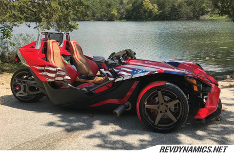 "Polaris Slingshot Ferrada 20"" wheels and tires"