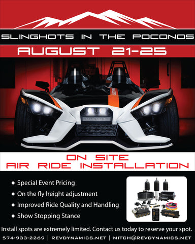 Slingshots In the Poconos 2019 Air Ride Install Reservation