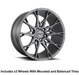 "Niche Staccato Slingshot 19"" Front 20"" Rear Wheel and Tire Package - Rev Dynamics"