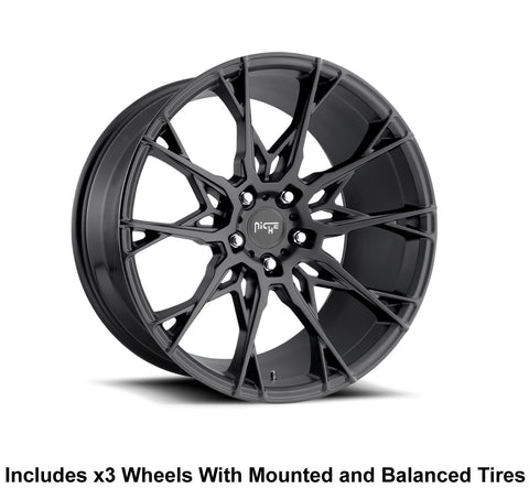 "Niche Staccato Slingshot 20"" Front 22"" Rear Wheel and Tire Package"