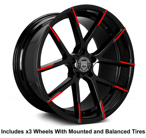 "Lexani Stuttgart 20"" (315 Rear) Wheel and Tire Package"