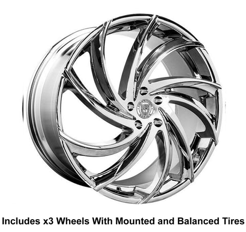 "Lexani Twister Slingshot 22"" Front 24"" Rear Wheel and Tire Package - Rev Dynamics"