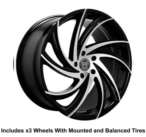 "Lexani Twister Slingshot 22"" Wheel and Tire Package - Rev Dynamics"