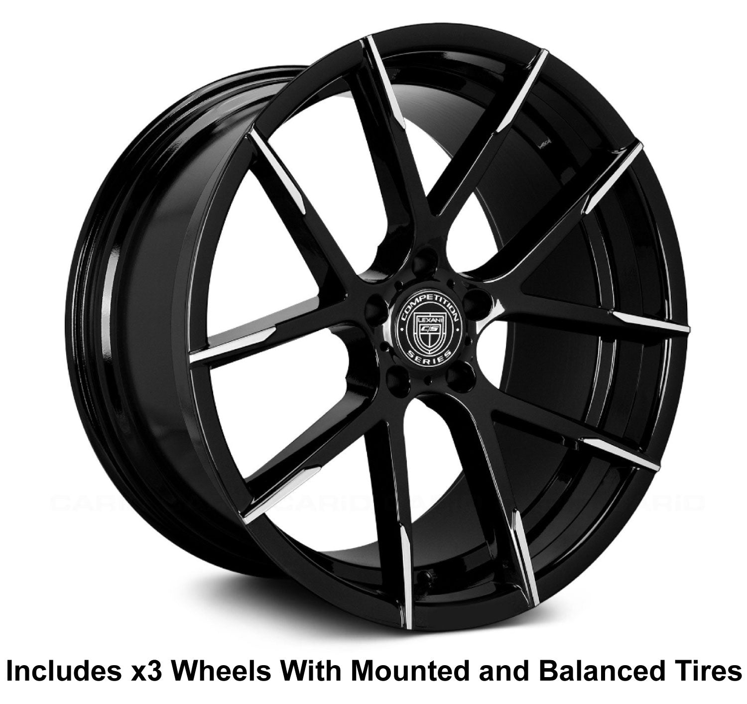 "Lexani Stuttgart 22"" Wheel and Tire Package - Rev Dynamics"