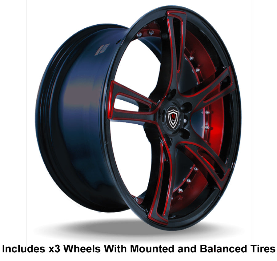 "Marquee m3247 Slingshot 20"" Wheel and Tire Package - Rev Dynamics"