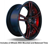 "Marquee m3247 Slingshot 20"" Wheel and Tire Package"