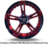 "Marquee m3247 Slingshot 22"" Wheel and Tire Package - Rev Dynamics"