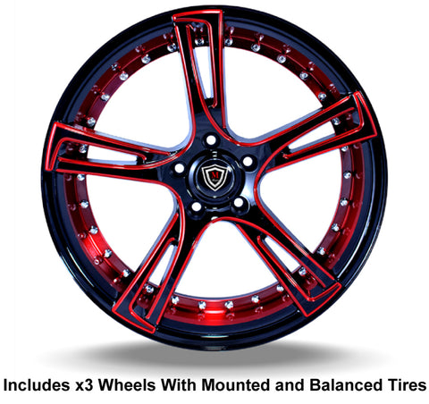Marquee Custom Slingshot Wheel and Tire Package 20""