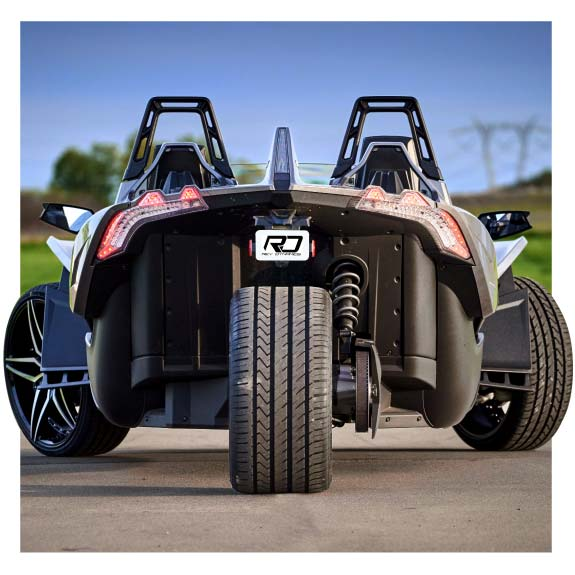 Polaris Slingshot Centered Rear Wheel Package