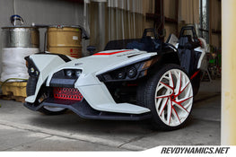 Polaris Slingshot Pearl White and Indy Red Two Tone Wheels