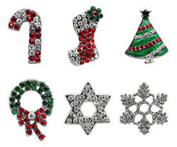 "3/8"" Holiday Bling Sliding Charms 10mm"