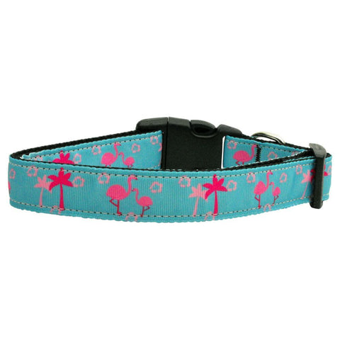 Pink Flamingos Ribbon Nylon Collar