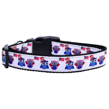 American Owls Adjustable Ribbon Nylon Collar