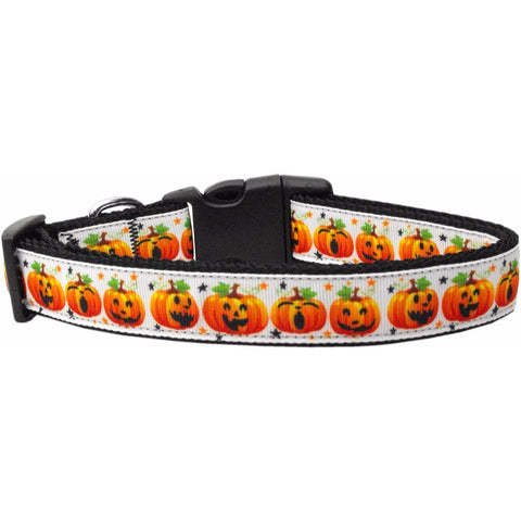 Pumpkin Parade Adjustable Ribbon Nylon Collar