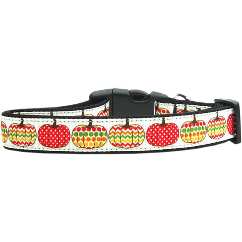 Pretty Pumpkins Adjustable Ribbon Nylon Collar