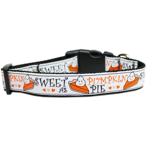 Sweet As Pumpkin Pie Adjustable Ribbon Nylon Collar