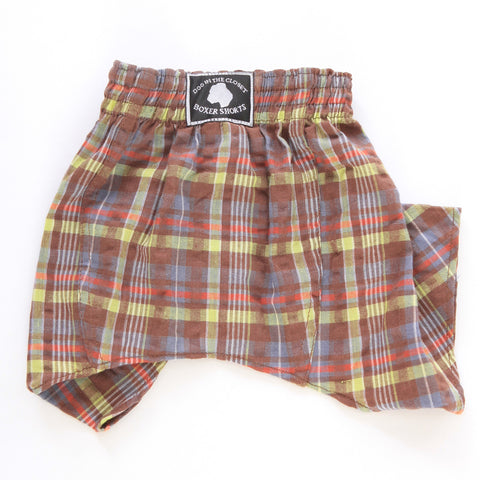 Brown & Lime Boxer Shorts