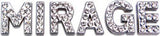 Clear Crystal Bling Block Letter Sliding Charms