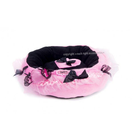 Pink Silk Candy Dog Bed