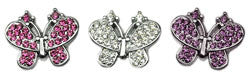 "3/8"" Bling Butterfly Sliding Charms 10mm"