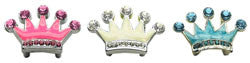 "3/8"" Enamel Crown Sliding Charms 10mm"
