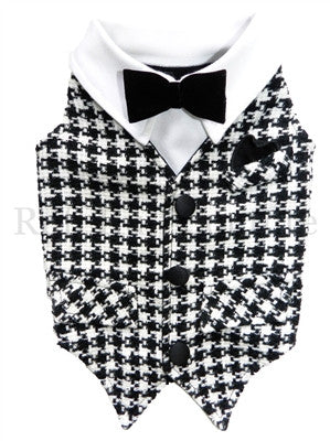 Dapper Wool Houndstooth Couture Vest