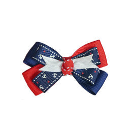 Navy Anchor Bow Collar Slider