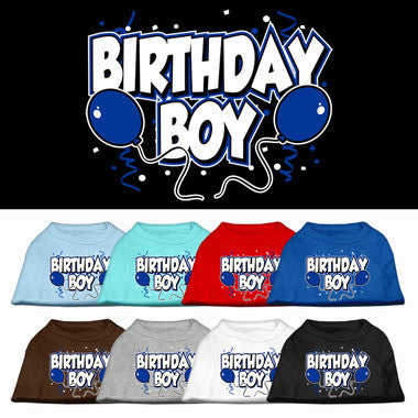 Birthday Boy Balloons Dog Shirt