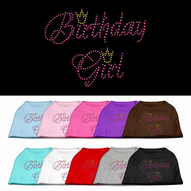 Birthday Girl Rhinestone Dog Shirt