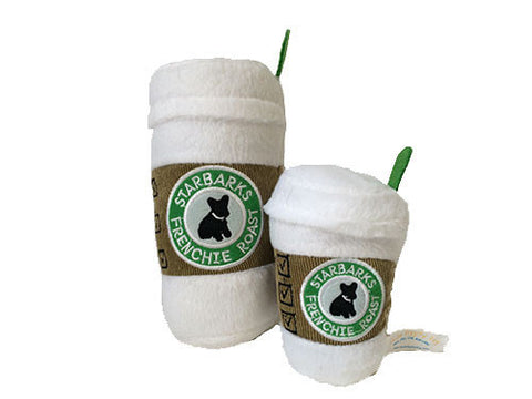 Starbarks Coffee Cup w / Lid Plush Dog Toy