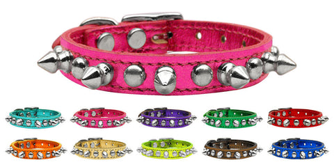 Fashion Metallic Chaser Spikes & Studs Leather Collar