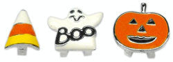 "3/8"" Enamel Halloween Sliding Charms 10mm"