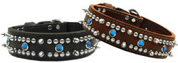 Leather Jewel Dog Collar