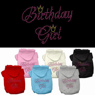 Birthday Girl Rhinestone Pet Hoodie