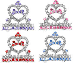 Crystal Tiara Dog Hair Barrete