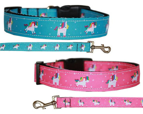 Unicorn Adjustable Ribbon Nylon Collar