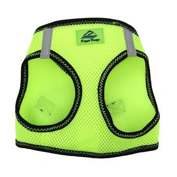 American River Dog Harness Top Stitch Collection - Neon Green