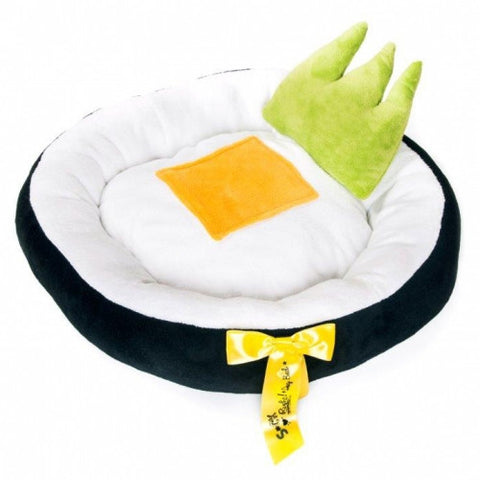 Maki Yellow Dog Bed  w/ Wasabi Toy