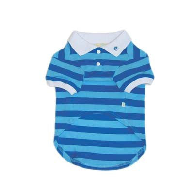 PP Stripe Blue Polo