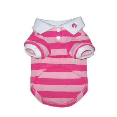 PP Stripe Pink Polo