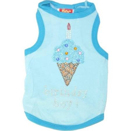 Blue Birthday Ice Cream Tank Shirt