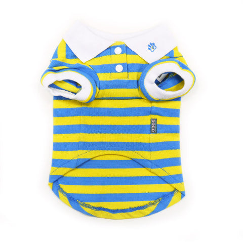 PP Stripe Blue & Yellow Polo