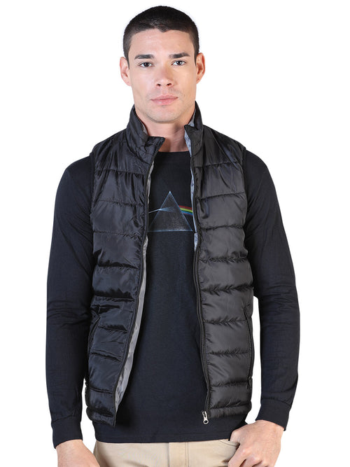 Casual Vest for Men, 100% Polyester 'The Lord of the Skies' * - ID: 42555 BLACK / GRAY