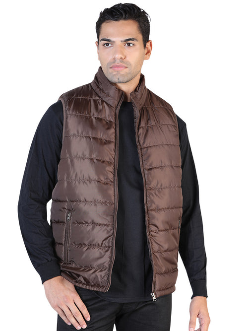 Casual Vest for Men, 100% Polyester 'The Lord of the Skies' * - ID: 42556 CAFE