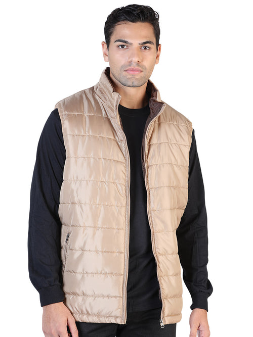 Casual Vest for Men, 100% Polyester 'The Lord of the Skies' * - ID: 42557 KHAKI / CAFE