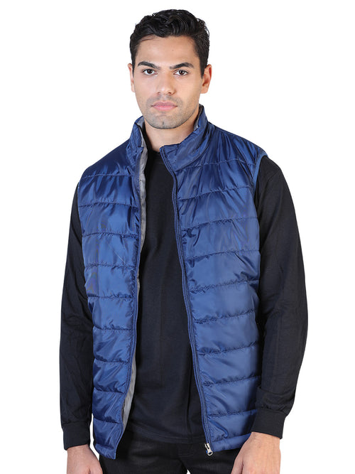 Casual Vest for Men, 100% Polyester 'The Lord of the Skies' * - ID: 42558 BLUE / GRAY