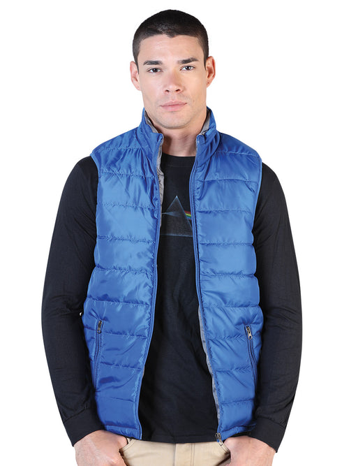 Casual Vest for Men, 100% Polyester 'The Lord of the Skies' * - ID: 42559 PETROLEO / GRAY