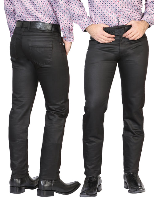 Casual Trousers for Men, 97% Cotton, 3% Spandex 'The Lord of the Skies' * - ID: 42847 BLACK