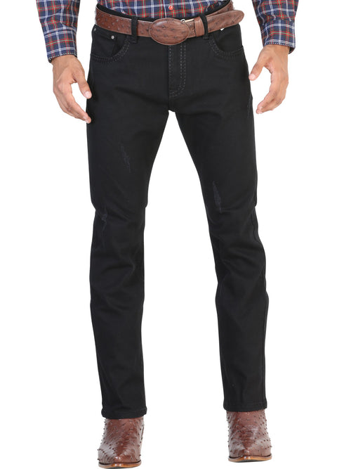 Casual Trousers for Men, 97% Cotton, 3% Spandex 'The Lord of the Skies' * - ID: 42855 BLACK