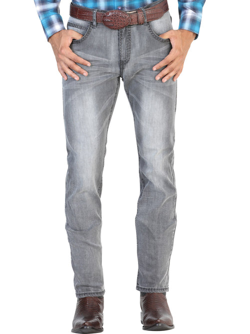 Casual Trousers for Men, 97% Cotton, 3% Spandex 'The Lord of the Skies' * - ID: 42856 STONE WASH